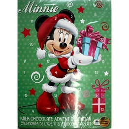 Disneys Minnie Maus Adventskalender mit feinster Vollmilchschokolade (65g)