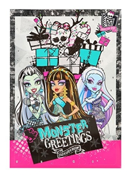 Monster High Adventskalender mit 24 Schreibwaren